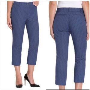 Hilary Radley Royal Blue Stretch Capri Crop Pants